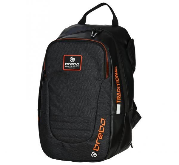 2359920_BRABO_BACKPACK_TRADITIONAL_JR_BLACK_NEON_ORANGE